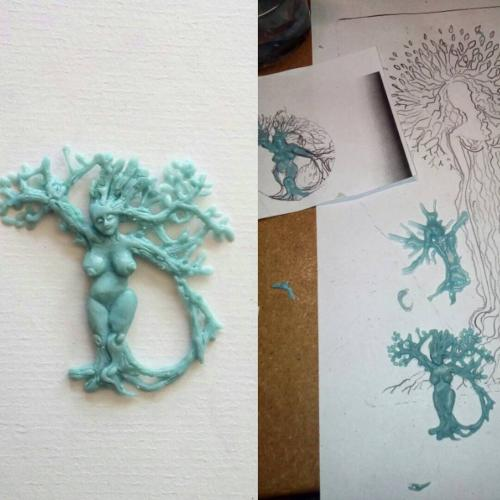 """How it's made. This """"treelady"""" is grateful and graceful."""